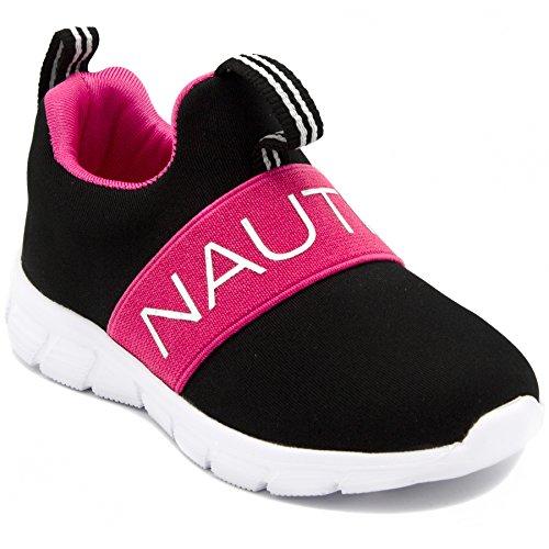 - Nautica Kids Girls Fashion Sneaker Running Shoe Strap-Mattoon-Black-8
