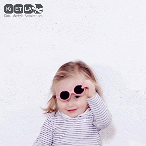 Ki ET LA - Lunettes de soleil bébé Diabola, 0 - 18 mois, Unique 2 tailles en 1, Rose