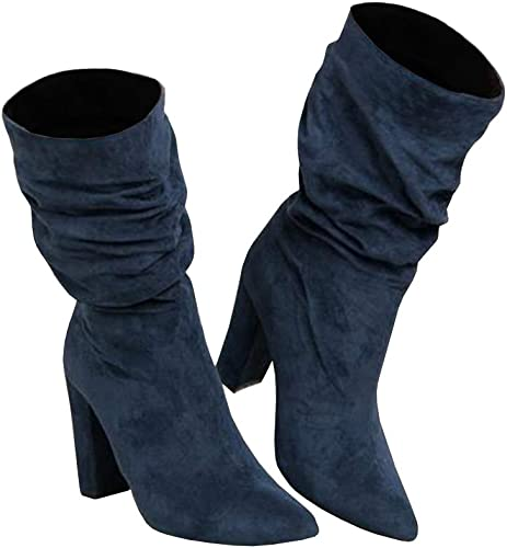 Womens Winter Slouchy High Heel Boots