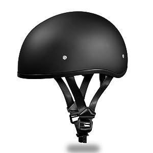 Daytona Helmets Slim Line Skull Cap Half-Face Helmet