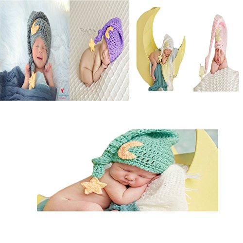 b85a94a3ef3 Newborn Baby Photography Photo Prop Crochet Photo Prop Moon Star Hat Sleepy  Time Hat Elf Hat