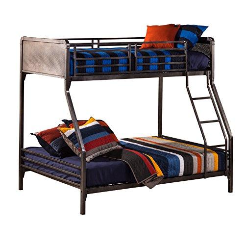 (Hillsdale Furniture 1265BBF Kids and Teen Twin/Full Bunk Bed Black Steel)
