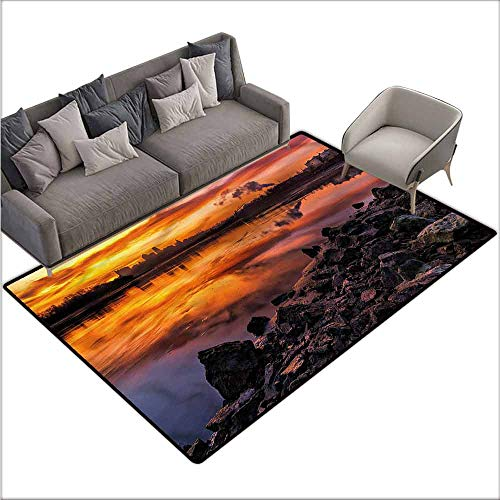 (Large Floor Mats for Living Room Landscape,Kansas City Scenery 80