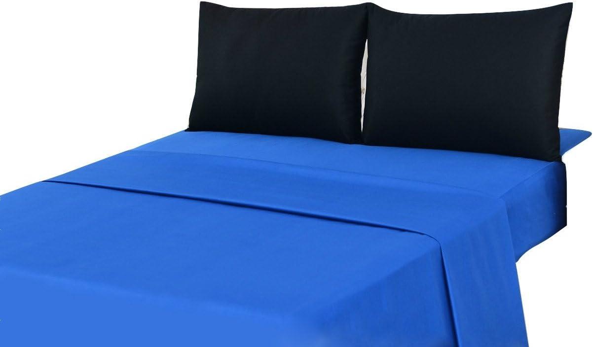 Tache Home Fashion BS4PC-BB-K 3-4 Pieces Bed Sheet Set, King, Blue
