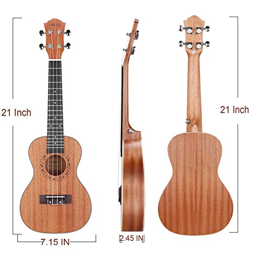 UKELE Soprano Ukulele 21 Inch Ukelele Professional Wooden Beginner Instrument Small Hawaiian Guitar with Gig Bag for Starter