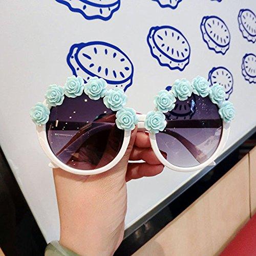Round sol para QQB 6 Gafas para sol Resort de Flowers mujer de Beach mujer Fashion 2 gafas X4 Gafas Color xr4xBnZW
