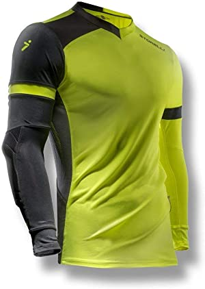 Storelli ExoShield Gladiator Goalkeeper Jersey | Padded Elbow Sleeves | Lightweight Soccer Jersey Shirt | Strike | Youth Extra Large
