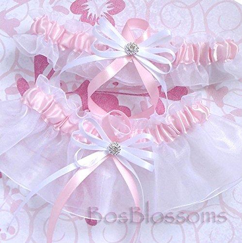 Customizable handmade - Pink satin & white organza