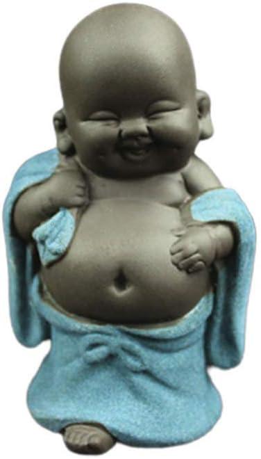 Small Ceramics Buddha Figurine Mini Buddha Tea Pet Buddhism Decoration Table
