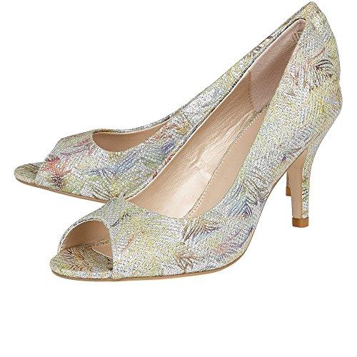 Lotus ficarro d' tessile stampa scarpe peep toe