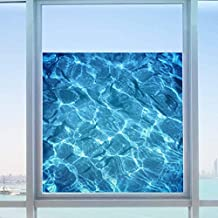 Wowall 3D Swimming Pool Tile Water Ripple Glass Film Decals(C)