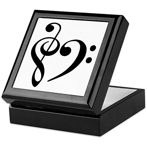 CafePress - Music - Keepsake Box, Finished Hardwood Jewelry Box, Velvet Lined Memento - Tuba Bass Tenor