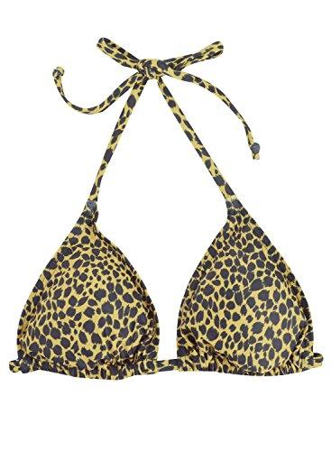 Futurino - Top de bikini - para mujer leopardo