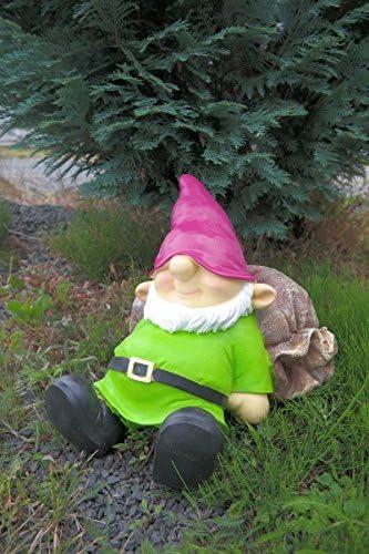 Saco de jardín Enano durmiendo en 35 cm Verde figura enanito de jardín Top: Amazon.es: Jardín