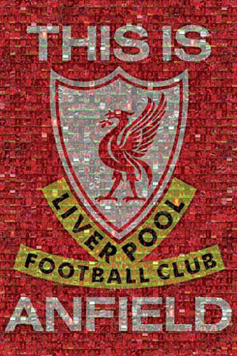 (24x36) Liverpool FC This Is Anfield Mosaic Sports Poster - Poster Anfield