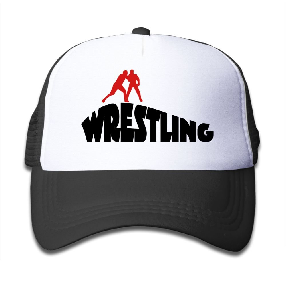 Poii Qon Wrestling Kids Cartoon Adjustable Mesh Baseball Cap