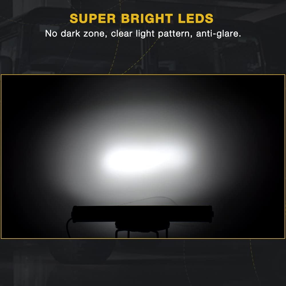 ATV 42 LED Light Bar AUTOSAVER88 Triple Row 540W Flood Spot Combo Beam Driving Road Lights with Harness Wiring for Trucks SUV Vehicle UTV Pickup