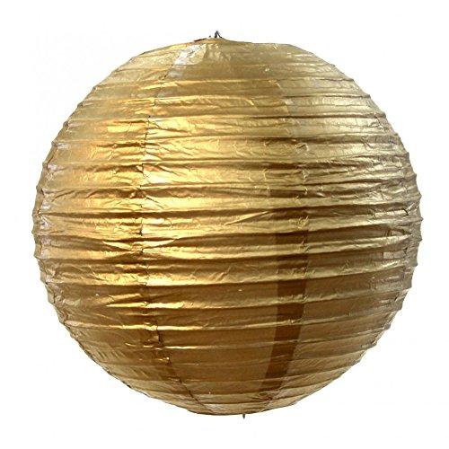 Koyal Wholesale Paper Lantern, 24-Inch, Gold (Paper Cheap Bulk Lanterns)