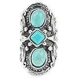 Jiayiqi Jewelry Womens Trendy Big Rings Adjustable Turquoise Ring
