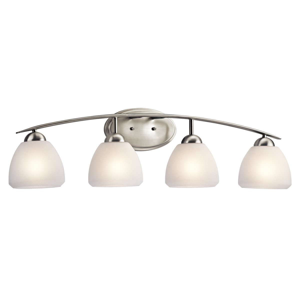 Kichler 45120ni four light bath vanity lighting fixtures amazon aloadofball Image collections