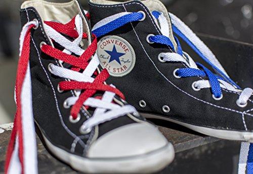 d8d557f0835815 Mercury + Maia Flat Athletic Shoelaces 2 Pair Pack- Flat Casual Sport Shoe  Laces for