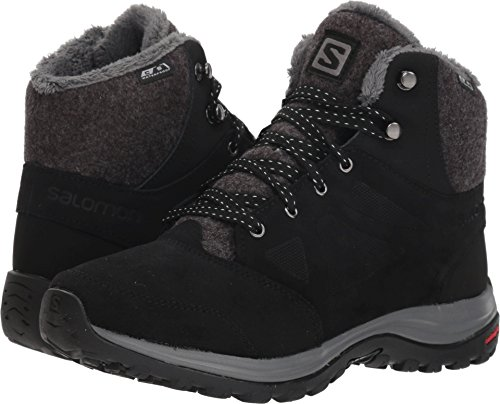 Salomon Women's Ellipse Freeze CS Waterproof W Hiking Boot, Black/Phantom/Beach Glass, 9 B US (Best Walking Trails In Minneapolis)