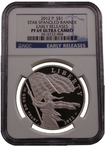 2012 P Spangled Commemorative Silver Dollar NGC PF69