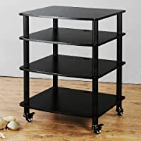 VTI AR Series 4 Shelf Audio Rack - Black / Black