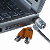 Kensington - Laptop Computer Microsaver Security Cable W/Lock White Cable Two Keys ''Product Category: Computer Accessories/Computer Locks & Security Cables''