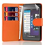 32nd Book wallet PU leather case cover for Blackberry Z10 - Orange