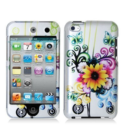 Snap-On Protector Hard Cover Case for iPod Touch 4th Generation / 4th Gen - Sun Flower