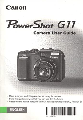canon powershot g11 digital camera original user guide instruction rh amazon com Canon PowerShot G11 Camera Canon PowerShot G11 Accessories
