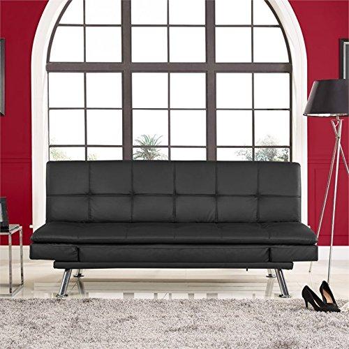 Lifestyle Serta Dawson Dream Convertible Sofa in Black