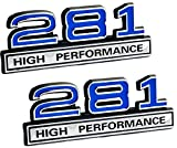 2007 ford f150 emblem decal - 281 4.6 Liter High Performance Engine Emblems in Chrome & Blue Trim - 4