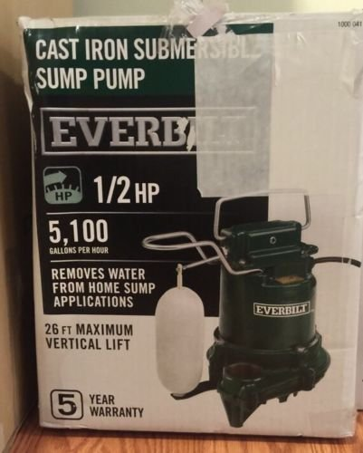 0.5 HP Cast Iron Sump Pump -  Everbilt, HDS50
