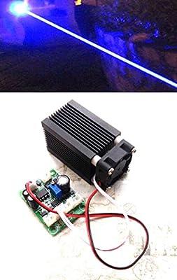 3W (NDB7A75) High Power 445/450nm 3000mw Blue Laser Dot Module 12V w/ TTL 0-20kHz & Long Tme Working