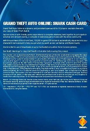 Grand Theft Auto Online | GTA V Great White Shark Cash Card