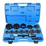 8milelake 19pcs Master Set Front Wheel Hub Drive Bearing Removal Install Service Tool Kit