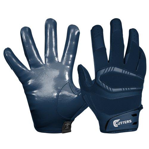 Navy Receiver Gloves (Cutters Gloves REV Pro Receiver Glove (Pair), Solid Navy, Medium)
