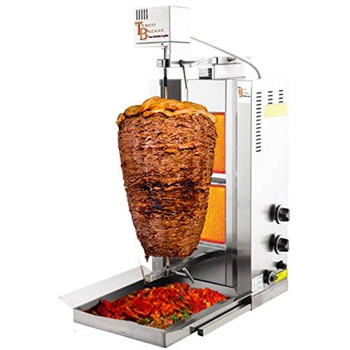 TurcoBazaar 110v 220v Automatic Kebab Machine Doner Machine Doner Kebab Grill Machine 2 Stove Propane