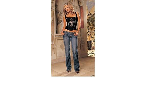 3b6afbf5f Women s Matte Satin Corset With Rhinestone Cross (Black 34)  Amazon.ca   Clothing   Accessories