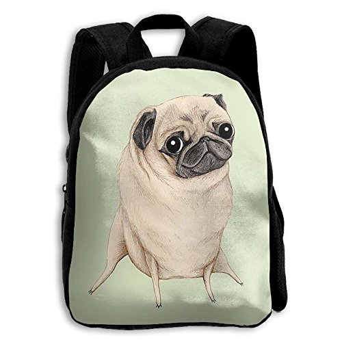 Pugs Gymnastics Boys Girls Popular Printing Toddler Kid Pre School Backpack Bags Lightweight