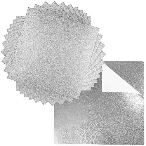 (Premium 20 Sheets Glitter Cardstock 12