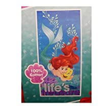 "Disney Little Mermaid Ariel ""Life's Treasures"" Beach Towels (Aqua Ariel)"