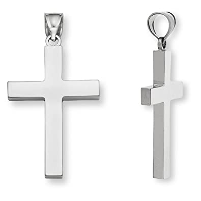 f3b252f06e27 Image Unavailable. Image not available for. Color  18K White Gold Men s  Cross Pendant