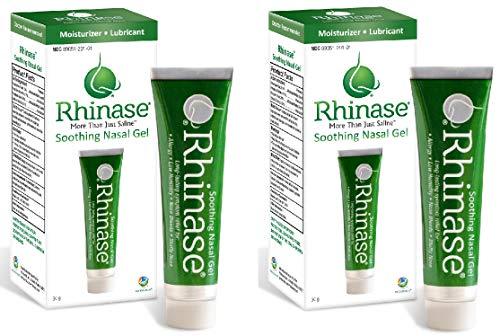 Rhinase Saline Nasal Gel (2 Pack) - Allergy - Nosebleed - Low Humidity