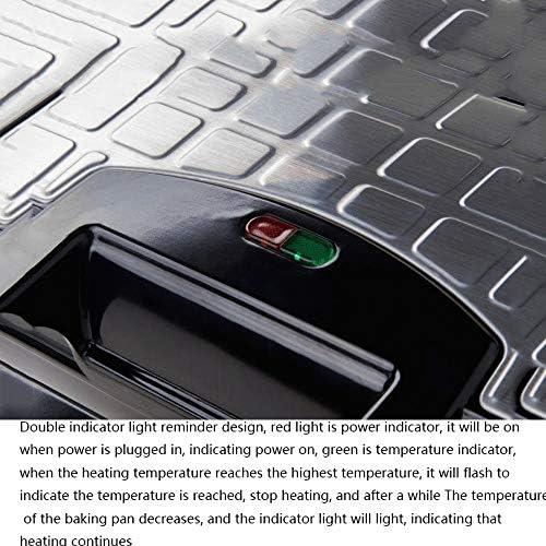 Gaufrier professionnel 2 tranches Gaufrier, toasteur, Panini Grill, Plaques Profonde Revêtement anti-adhésif, contrôle automatique de la température, chauffage double face
