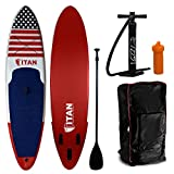 Wet Hot American Summer Inflatable Stand Up Paddle Board (10 Feet 6 Inches) | Military Grade Drop Stitch PVC Core Interior | Stand Up Paddle Board Comes with Adjustable Paddle, Coil Leash and Pump