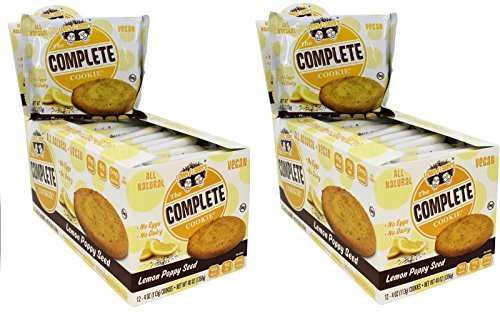 Lenny & Larry's The Complete Cookie, Lemon Poppy Seed, 4-Ounce Cookies (Pack of 24)