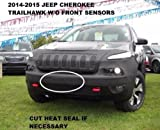 #3: Lebra 2 piece Front End Cover Black - Car Mask Bra - Fits - 2014-2018 14-18 Jeep Cherokee Trailhawk (without front sensors)